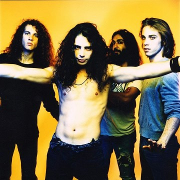 """Soundgarden (band) poses in a publicity session with Jason Everman for Sub Pop Records in November of 1989. Soundgarden's most popular album ever, """"Superunknown,"""" was released in 1994. Photo taken by: Michael Lavine"""