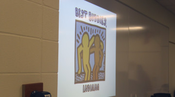 The Best Buddies officers  present a powerpoint. The powerpoint showed Best Buddies success stories from across the nation.