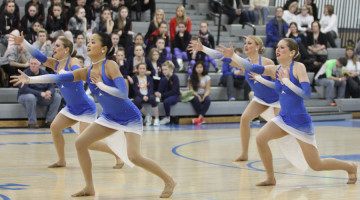 The Varsity Centralettes dance their Jazz dance together at the IHSDTA Regional Competition. The team will advance to the State Championship after taking first place in both Jazz and Hip Hop at Regionals.