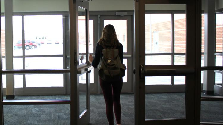 A student is leaving school before the final bell. The amount of truancies are rising every year, and laws are working to put a stop to it.