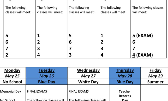 final exam may 14 spring 2015 Final examination schedule – spring 2018 thursday,  the final exam schedule is based on the time of the lecture  may 14: 5:45-7:45 pm.