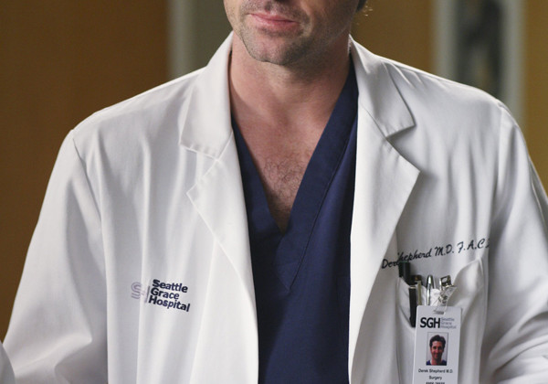 "Dr. Derek Shepherd, portrayed by Patrick Dempsey, listens to a patient talk. ""Grey's Anatomy"" first premiered in 2005."