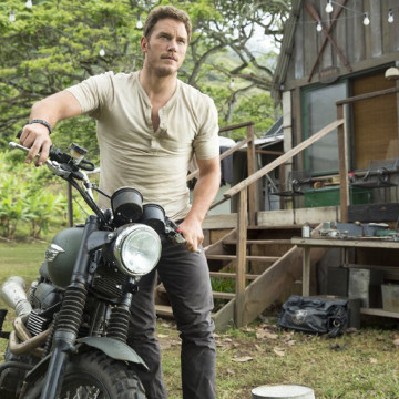 "Owen (Chris Pratt) gets ready to lead the Velociraptors in the hunt for the asset out of containment. Pratt portrayed an animal adept in ""Jurassic World."""