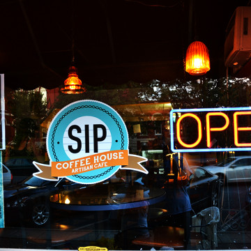 SIP has a variety of coffees and foods for a customer to choose from and offers many activities for one to partake in.  SIP was previously named Tiffany's Tea House until the owner changed the name and look of the cafe.