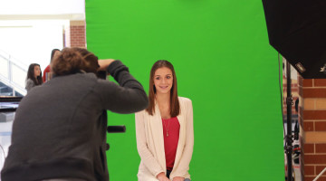 Angela Cistaro (11) poses for a picture. Picture retakes took place on Wednesday, Sept. 30.