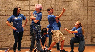 The improv group Straight Outta Broadway performs. The show took place on Sept. 24.