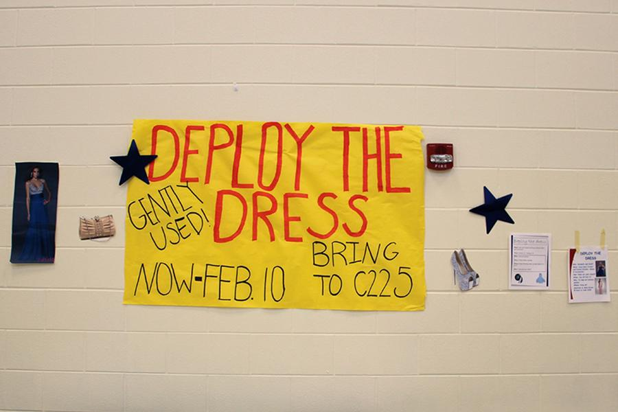 Deploy the Dress is a current fundraiser taking place at Lake Central. Donations include dresses, accessories, shoes and bags.