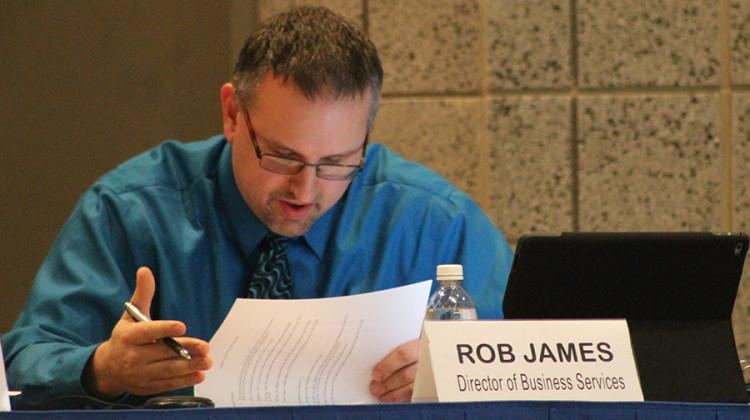 Mr. Rob James, Director of Business Services, addresses 2016 tax rates.  Mr. James also addressed 2016 general obligations and bond resolutions, the public hearing and adoption of additional appropriation resolution and new donations for the school.