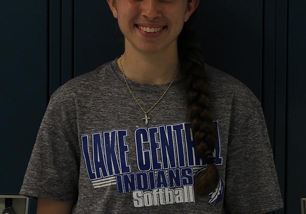 Crystal Guzman (11), plays shortstop for the varsity girls softball team. Guzman has been playing softball since she was six years old.
