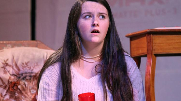 "Olivia LaVoie (9) plays a stressed mother in her show ""Suspect to Change."" Freshman Shows will go on April 29 and 30 at 7 p.m. both nights."
