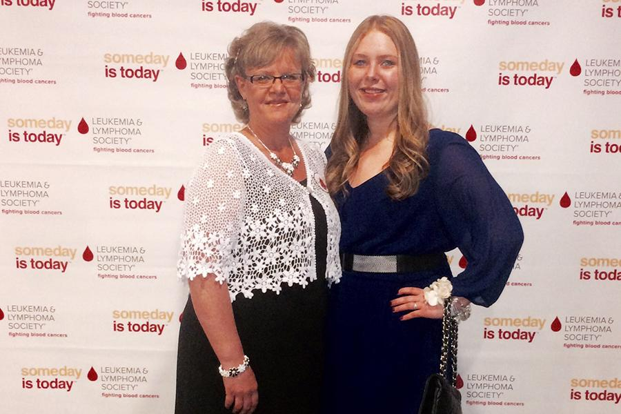 Stephanie Miller (12) poses with her stepmom at The Leukemia and Lymphoma Society Student of the Year dinner. Miller was one of eight students who won the award. Photo submitted by: Stephanie Miller