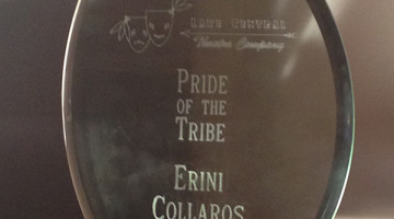 Erini Collaros (12) won the Lake Central Theater Company's Pride of the Tribe award. The award is referred to as the lifetime achievement award for the company. Photo submitted by: Erini Collaros