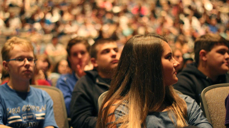 Students listen intently as Don Bacso spoke about his story on September 11 disaster. The assembly took place in the auditorium.