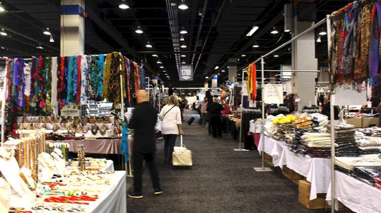 Buyers walk around the Jewelry, Fashion and Accessories Trade Show. The trade show took place from Oct. 20 to Oct. 23 in Rosemont, Ill.