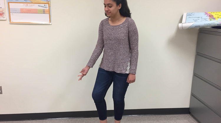 Ria Chopra (10) practices a dance move. This was her second year performing at Hum Night.