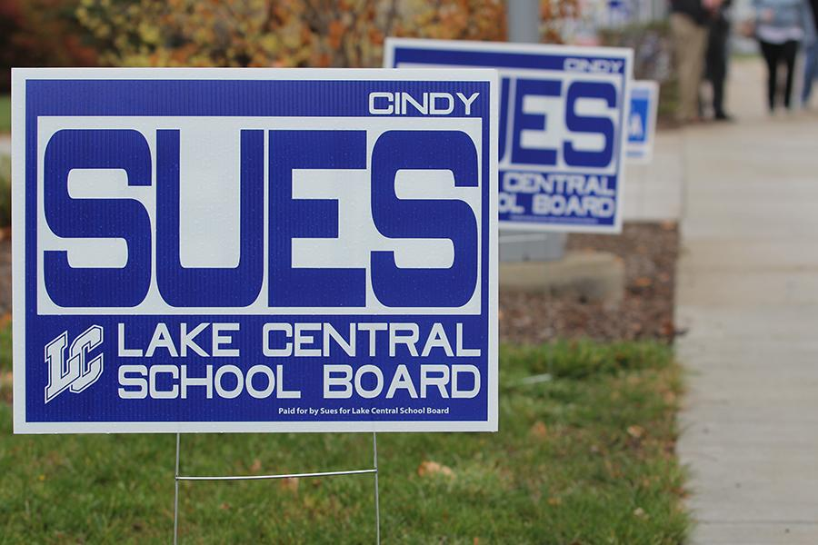 People running for elections put up signs throughout towns in hopes of getting name recognition and votes. For a new school board member, such as Cynthia Sues, name recognition is key.