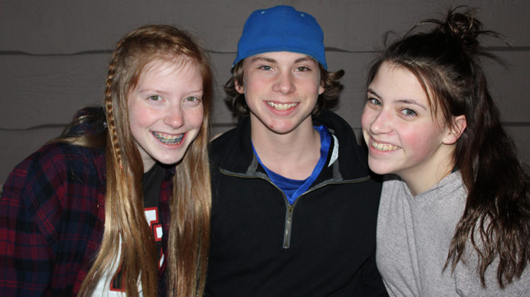 Kasseidi Lessentine (10), Casey Lessentine (10) and Kailey Lessentine (10) pose for a photo. These triplets, along with their older brother, were extras in 'Shameless'.