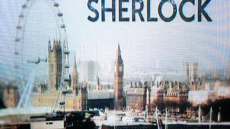 """The introduction screen for """"Sherlock"""" appears. The show is now in its fourth season."""