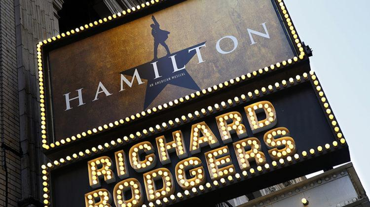 "The new Broadway show ""Hamilton"" is in previews now at the Richard Rodgers Theatre in New York City on July 22, 2015. (Carolyn Cole/Los Angeles Times)"