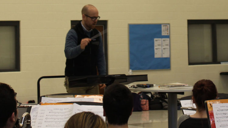 Mr. Elliott Smith, Music, conducts the class. This was Mr. Smith's first year at Lake Central.