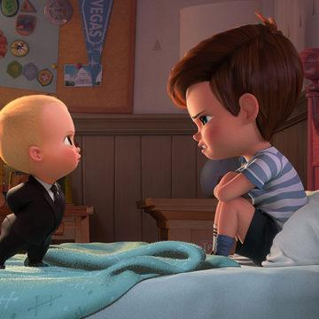"From left, Boss Baby, voiced by Alec Baldwin, tries to convince Tim, voiced by Miles Bakshi, that they must cooperate in DreamWorks Animation's ""The Boss Baby."" (DreamWorks Animation)"