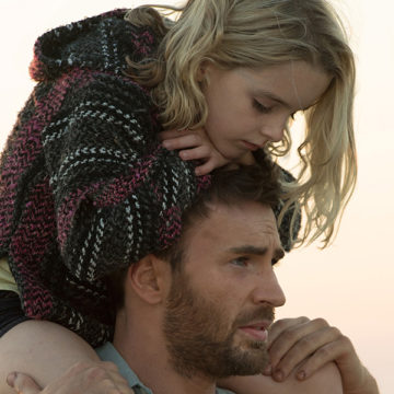 """Frank Adler and his niece Mary enjoy time at the beach together. """"Gifted"""" came out in theaters on April 7. (Wilson Webb/Twentieth Century Fox)"""