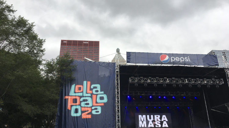 Mura Masa performs for a big crowd at Lollapalooza. This was the first time the played in Chicago.