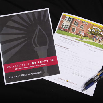 College applications are waiting to be filled out. Many students have started applying to colleges for early administration or to widen their college choices.