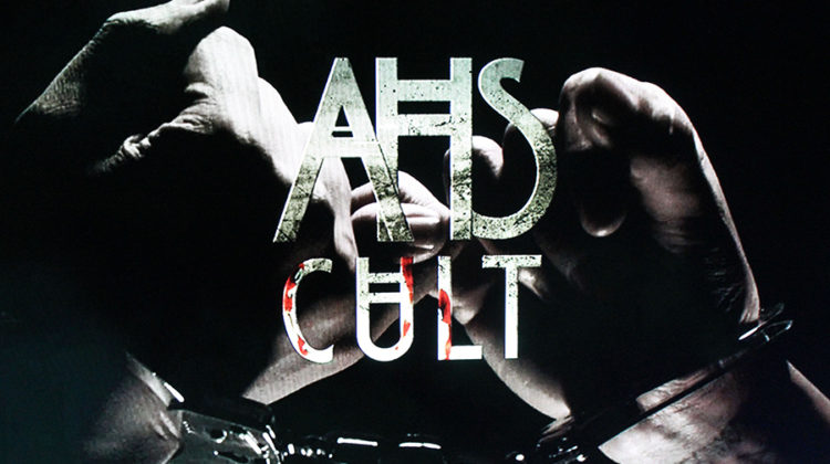 "The logo for ""American Horror Story: Cult"" appears at the end of the show's opening credits. ""American Horror Story: Cult"" was the seventh season of the anthology series."