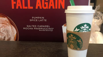 Pumpkin spice is  a key component to fall culture to most people. Pictured is the pumpkin spice latte from Starbucks.