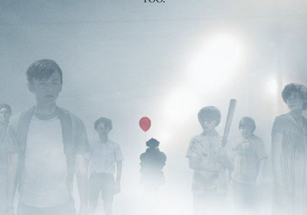 """The Losers are standing off to the side covered in mist, as """"It"""" stands in the background with his red balloon. It was released in theatres on Thursday, Sept. 7. Photo credit to Pinterest."""