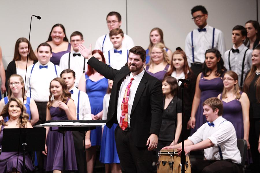 The audience applauds Mr. Nathaniel Jones, Music, and the rest of the choral department for putting on such a fantastic performance. The next choir concert will be held on Dec. 7 at 7 P.M in Lake Central's auditorium.