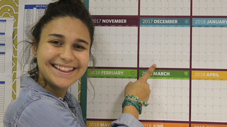 Elizabeth Slager (12) will be graduating in December of 2017. She was able to do this by getting ahead in all her classes.