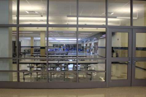 The north side cafeteria was shut down Monday during D lunch because of a sewage problem. Students had to sit in Main Street and the south side of the cafeteria to eat their lunch.